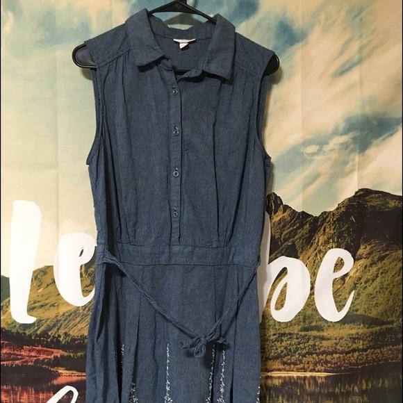 Dress Barn Dresses & Skirts - Denim and Lace Dress